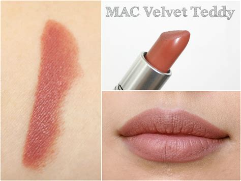 Mac Matte Lipstick Velvet Teddy mac lipstick haul including swatches liviatiana