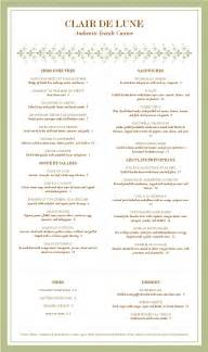 fancy menu template the gallery for gt fancy restaurant menu template