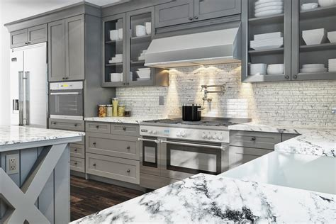 Ready To Assemble Kitchen Cabinets Reviews by Buy Shaker Gray Rta Ready To Assemble Kitchen Cabinets