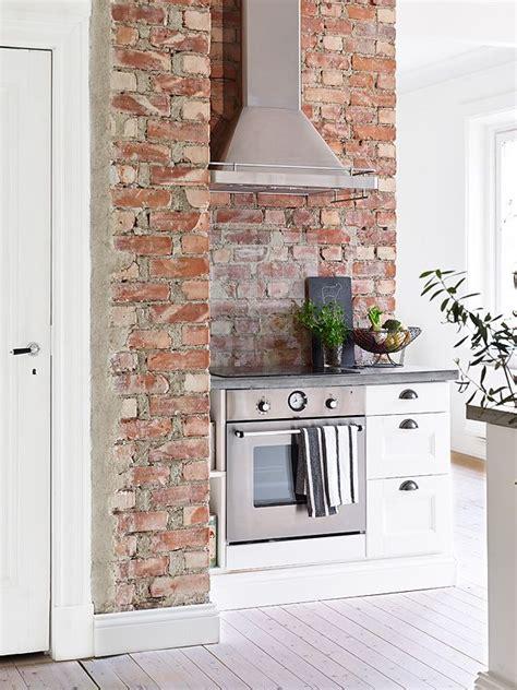 exposed brick kitchen exposed brick wall in the kitchen decoracion del hogar