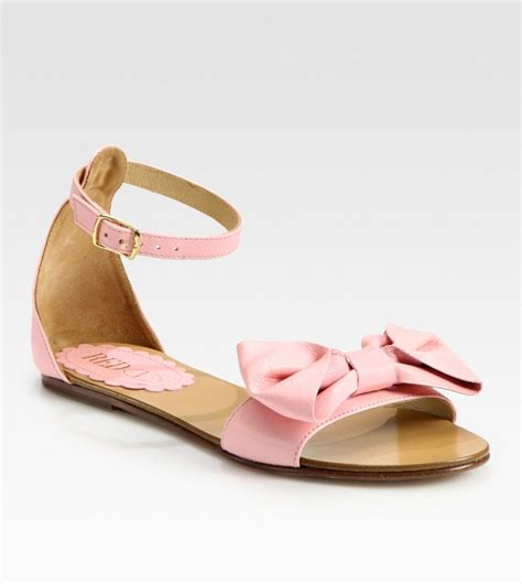 Sandal Bow Pink by Bow Sandals Craftysandals