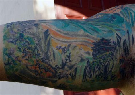 japanese landscape tattoo designs 90 landscape tattoos for scenic design ideas