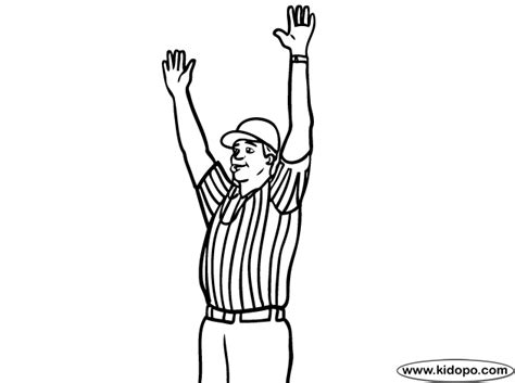 football referee coloring page football referee 2 coloring page
