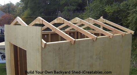 How To Make Trusses For Shed by Shed Plans How To Build A Shed Icreatables