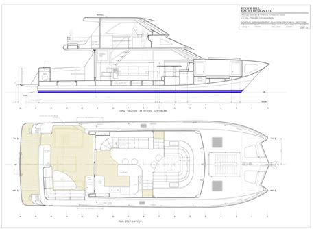 layout boat nz roger hill yacht design catamaran yacht power sail