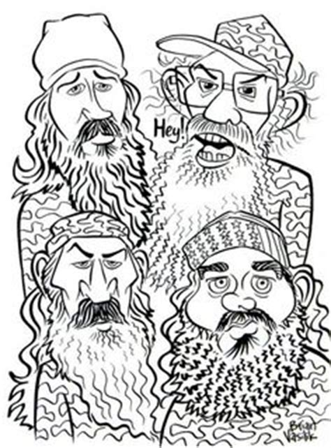 duck call coloring page duck dynasty people coloring pages drew the cast members