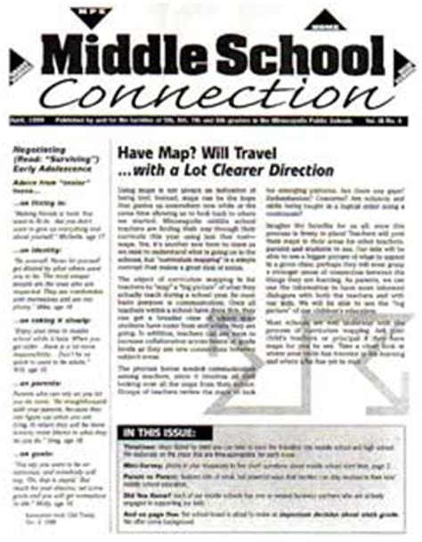 education world newsletter templates education world newsletter connects middle school parents