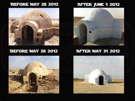 star wars house star wars fans rebuild luke skywalker s home in tunisian