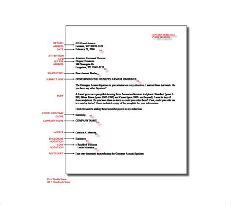 business letter format exle with spacing 14 proper letter formats free sle exle format