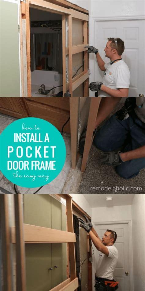 install  pocket door frame   existing wall