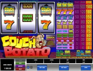 couch potato slots slotmachines guide couch potato microgaming bankrollmob