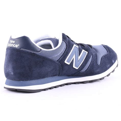 New Balance 373 Navy Putih new balance 373 mens suede synthetic trainers in navy white
