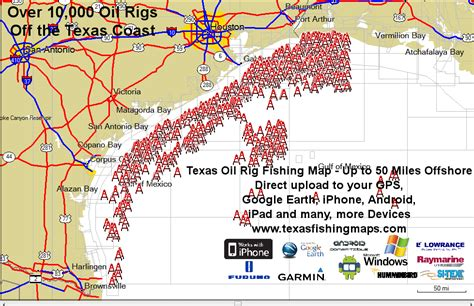 texas gulf coast fishing maps rig map texas coast fishing rig rigs and texas