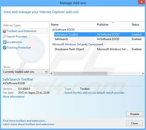 safesearch net browser hijacker installer sle 2 how to get rid of safesear ch browser hijacker virus