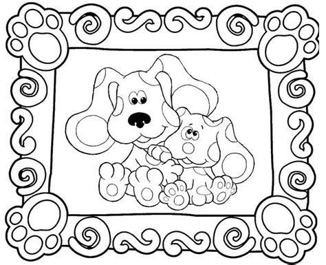 nick jr blue s clues coloring pages blues clues pictures to color az coloring pages