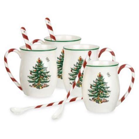 spode christmas tree candy cane handle mugs spode 174 tree handle mugs set of 4