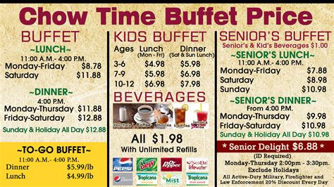 time buffet chow time buffet best buffet in west valley city