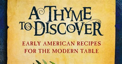 olla podrida a thyme to discover early american recipes