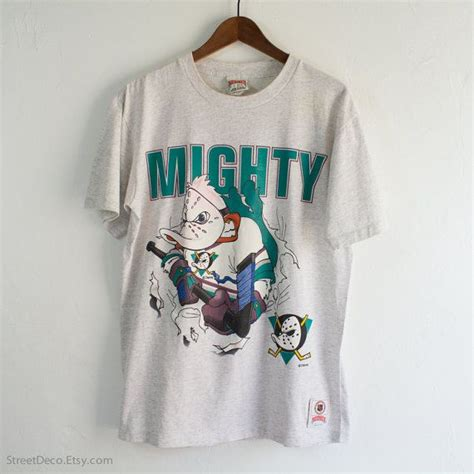 vintage 90s mighty ducks disney x nutmeg nhl front back