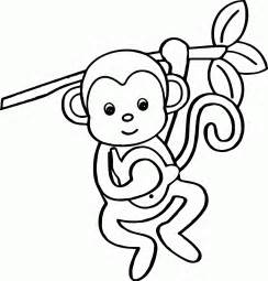 monkey coloring pages baby monkey coloring pages printables coloring home