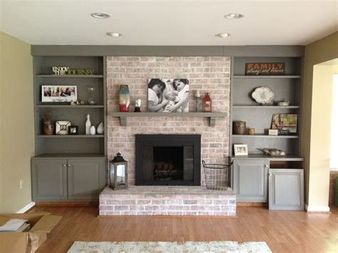 Decorating Ideas For Kitchen Fireplace Living Room Living Room With Brick Fireplace Decorating