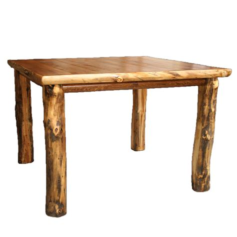 In Table Aspen Log Furniture 60 Inch Aspen Pub Table Black Forest