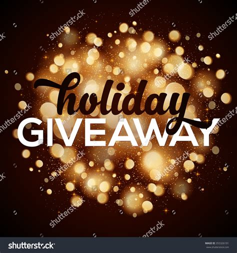 The View Holiday Sweepstakes - holiday giveaway vector card bokeh effect stock vector 355326191 shutterstock
