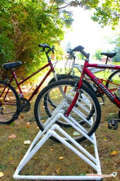 Make Bike Rack by Diy Pvc Bike Rack Made By Marzipan