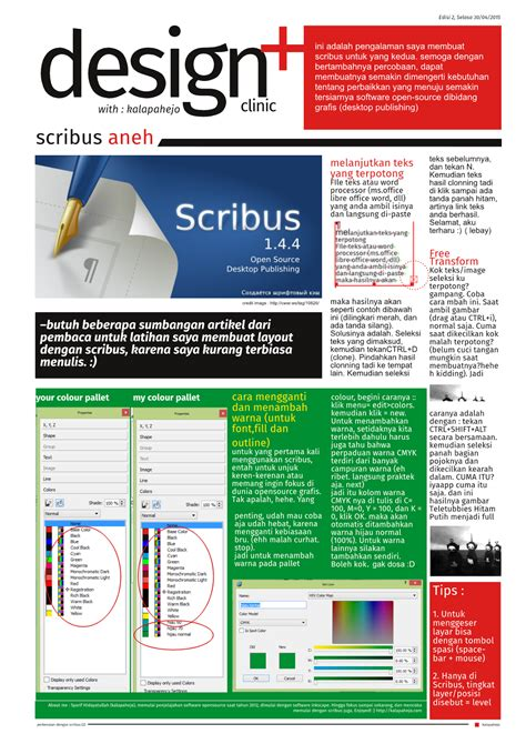 scribus brochure templates kalapahejo tutorial dan template scribus bahasa indonesia