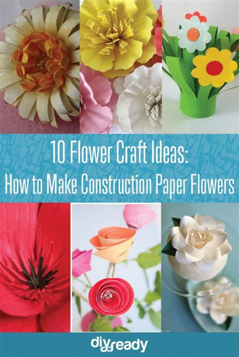 How To Make Paper Flowers With Construction Paper - how to make construction paper flowers