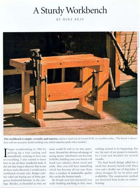 sturdy work bench sturdy workbench plans woodarchivist