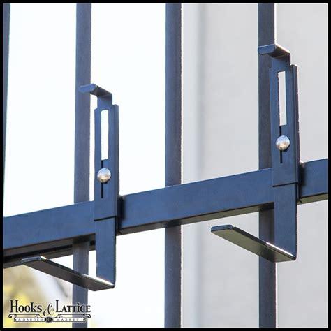 rail planter box rail planter box bracket adjustable pair