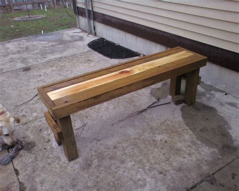 bench project back porch gourmet weekend project simple stripe patio bench home interior