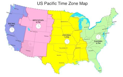 pacific time zone map pacific daylight time in us now pdt now us time zones map