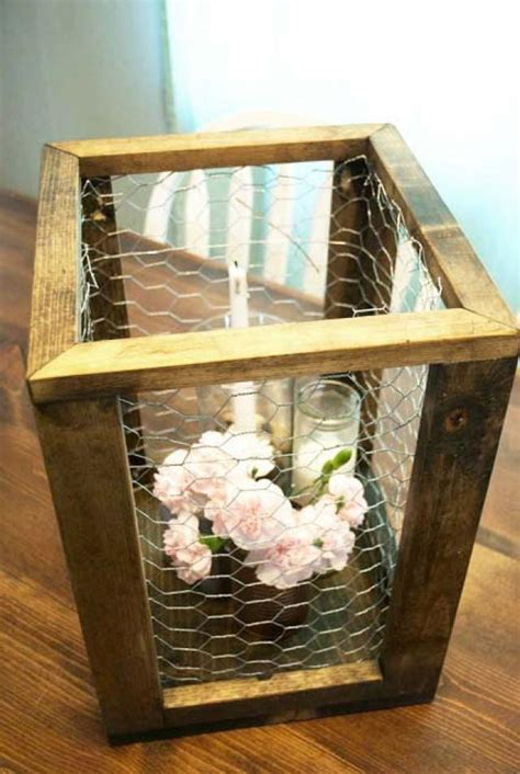 Wire Planter Boxes by Chicken Wire Framed Box Rustic Home Decor Rustic Wedding