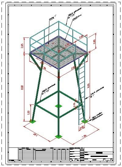 tower water tower  dwg model  autocad designs cad