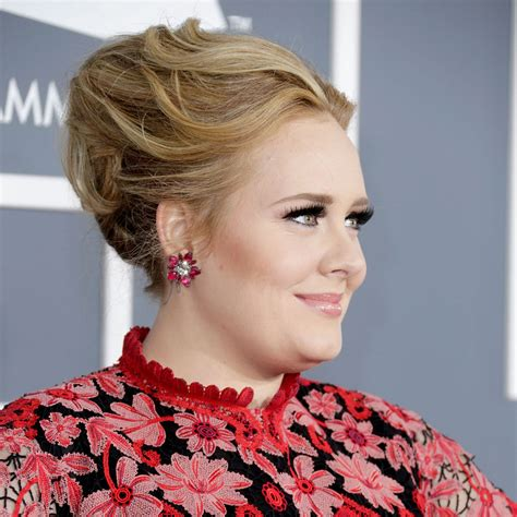 adele grammy photos 2013 adele grammys 2013 hair and makeup popsugar beauty