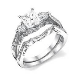 White Gold Chandelier Earrings Antique Wedding Ring Set Jeenjewels