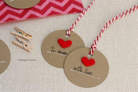 Handmade Tag - handmade gift tags live laugh rowe
