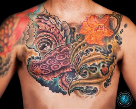 octopus tattoo on chest 29 octopus tattoos on chest