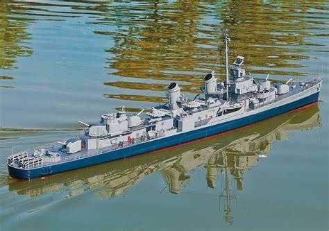 boat detailing float wwii fletcher class destroyer working model that floats
