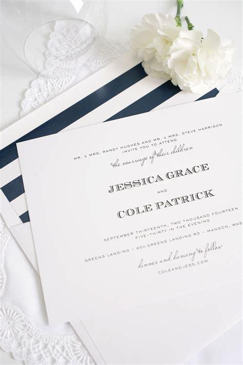 Green And Navy Wedding Invitations