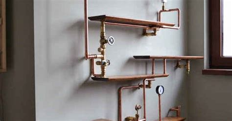 kupferrohr regal this copper pipe bookshelf kupferrohr regal und m 246 bel