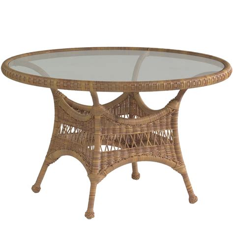Wicker Patio Tables Whitecraft By Woodard Sommerwind Wicker 48 Quot Dining Table Wicker Dining Tables Wicker
