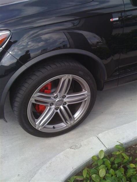 Audi Q7 Brakes by Q7 Sline With Red Brake Calipers Audiworld Forums