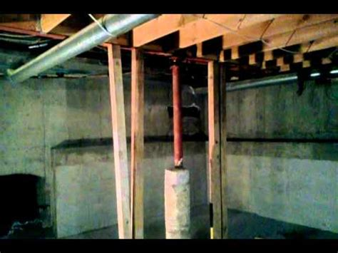 basement excavation denver steel support post