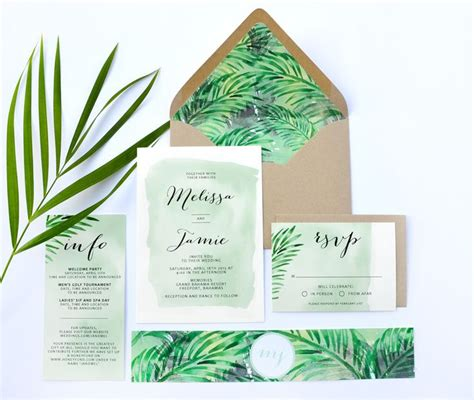 Tropical Wedding Invitations by 17 Best Images About I N V I T A T I O N S On
