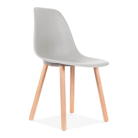 eames inspired copenhagen light grey dining chair cult
