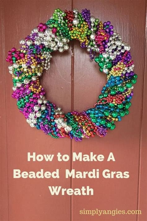 mardi gras bead wreath make a and colorful mardi gras wreath from
