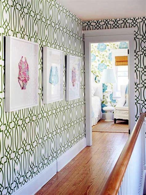 Tapete Mit Muster Tapezieren by 1001 Tapeten Flur Ideen Zum Erstaunen Und Begeistern